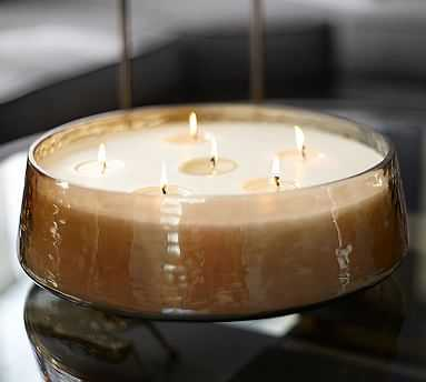 Oversized Hand Blown Luster Glass Multi-wick Candle Pot - Pottery Barn