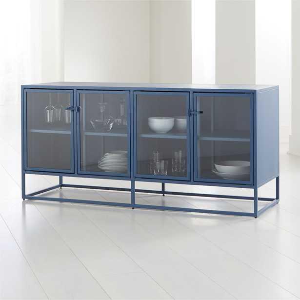 Casement Blue Large Metal Sideboard - Crate and Barrel