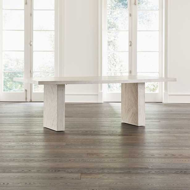 Dunewood Whitewashed Dining Table - Crate and Barrel