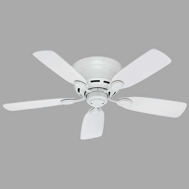 Hunter Low Profile 42 in. Indoor Snow White Ceiling Fan - Home Depot