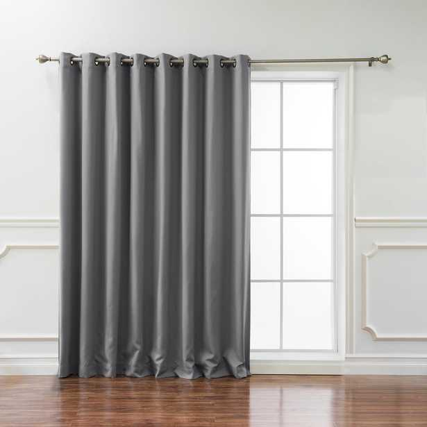 Best Home Fashion Wide Basic 100 in. W x 96 in. L Blackout Curtain in Grey - Home Depot