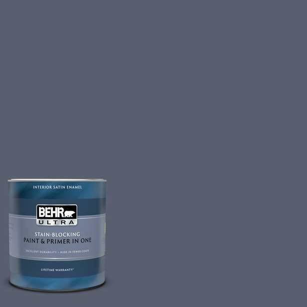 BEHR ULTRA 1 qt. #S550-6 Mysterious Night Satin Enamel Interior Paint and Primer in One - Home Depot