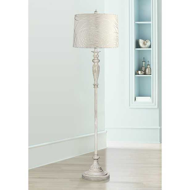 Silver Circles Vintage Chic Floor Lamp - Style # 17K20 - Lamps Plus