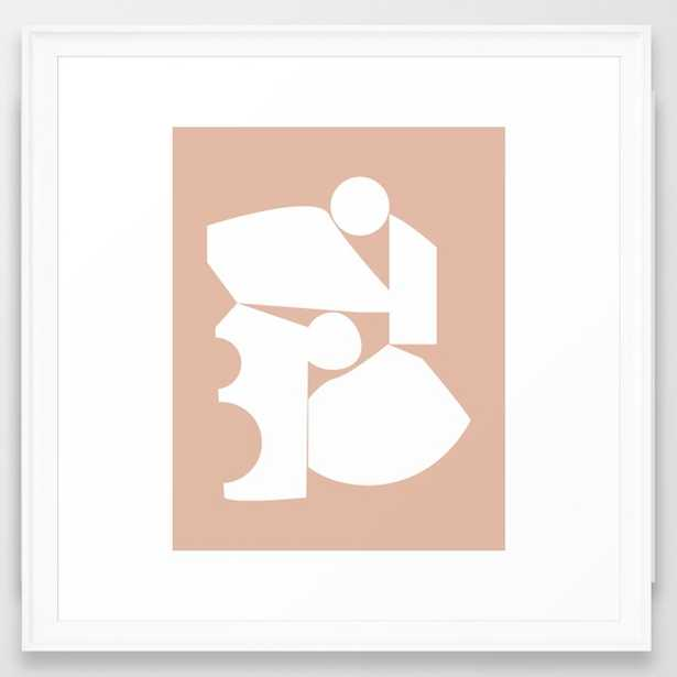 Shape study #16 - Inside Out Collection Framed Art Print by Mpgmb - Society6