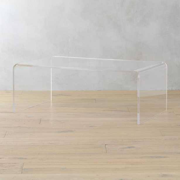 peekaboo acrylic coffee table - CB2