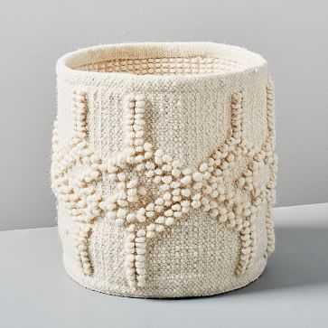 Sweater Knit Basket, Ivory - West Elm