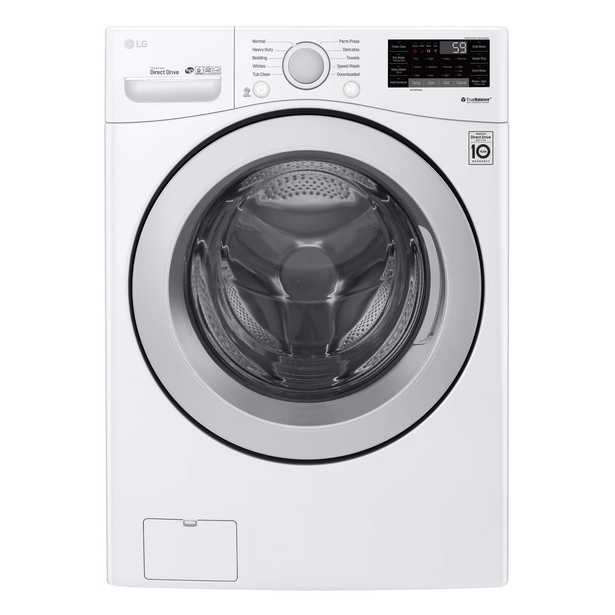 LG Electronics 4.5 cu.ft. Ultra Large Capacity Front Load Washer with Coldwash Technology and Wi-Fi Connectivity in White - Home Depot