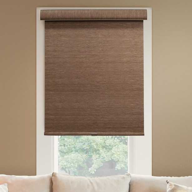 Chicology 66 in. W x 72 in. L Woodland Brown Natural Woven Horizontal Roller Shade, Felton Truffle (Privacy & Natural Woven) - Home Depot