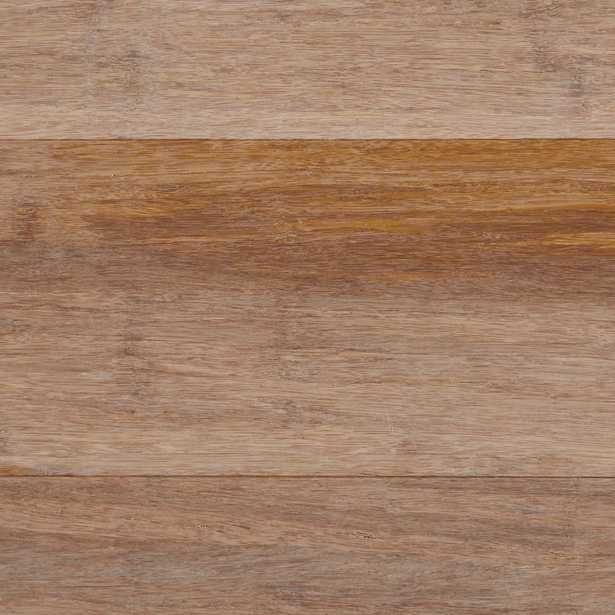 Wire Brushed Strand Woven Sand (Brown) 3/8 in. T x 5-1/8 in. W x 72-7/8 in. L Engineered Click Bamboo Flooring - Home Depot