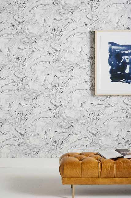 Marble Flow Wallpaper - Anthropologie