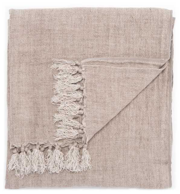 """Lisabet Solid Taupe Throw (51""""X67"""") - Collective Weavers"""