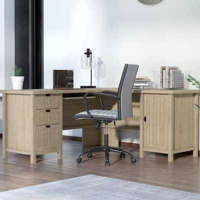Shelby L-Shape Executive Desk - Wayfair