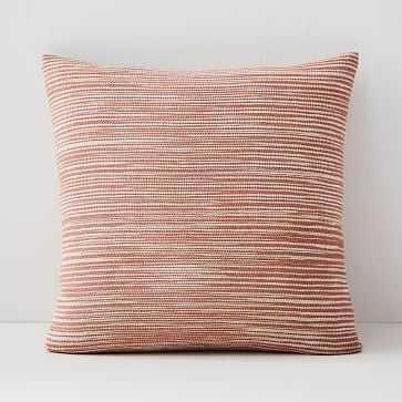 "Silk Ombre Striations Pillow Cover, 20""x20"", Papaya - West Elm"