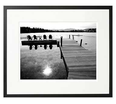 """New York Times Archive Framed Photography, Mirror Lake - 2009, 24 x 20 """", Black - Pottery Barn"""