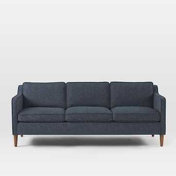 "Hamilton Upholstered 81"" Sofa, Chenille Tweed, Nightshade - West Elm"