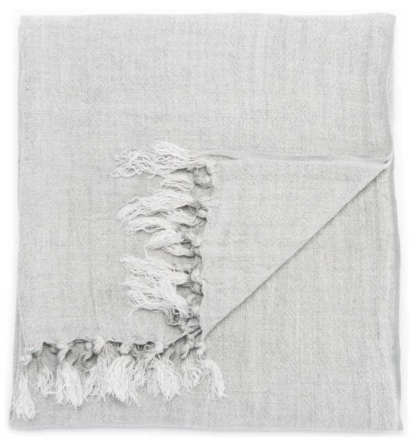 """Madura Solid Gray Throw (51""""X67"""") - Collective Weavers"""