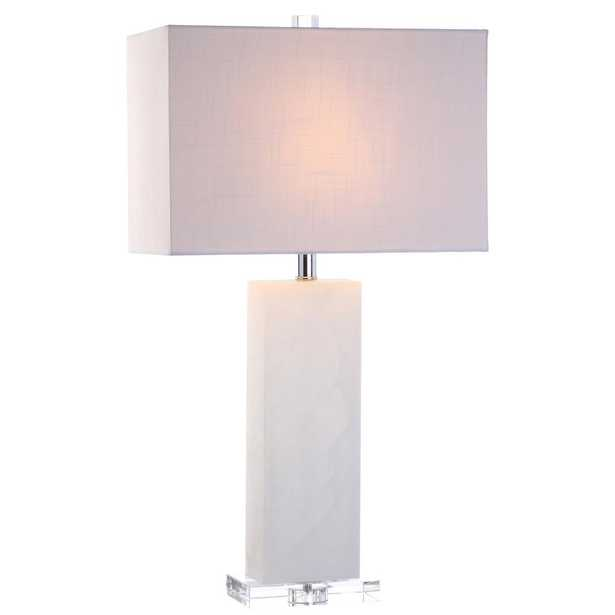 JONATHAN  Y Tiggie 27 in. H White Alabaster Table Lamp - Home Depot