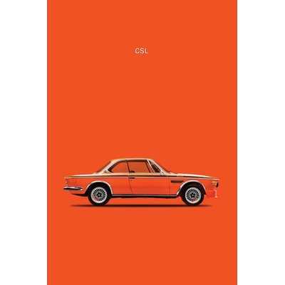 '1972 BMW CSL' Graphic Art Print on Canvas - Wayfair
