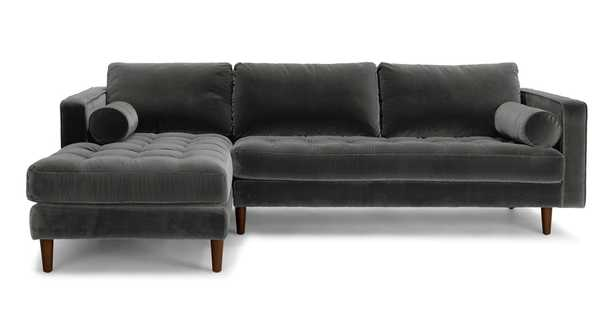 Sven Shadow Gray Left Sectional Sofa - Article
