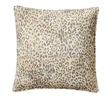 "Cheetah Print Pillow, Neutral Multi, 20"" - Pottery Barn"