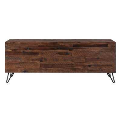 Itasca Wood Storage Bench - Wayfair