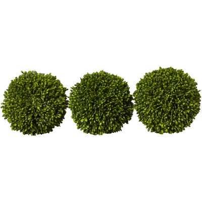 Faux Ball Decor Round Topiary - Wayfair