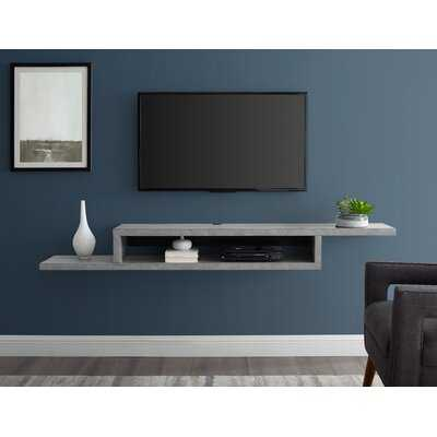 Mauck Asymmetrical Floating Wall Mounted TV Console, 72Inch, light brown - Wayfair