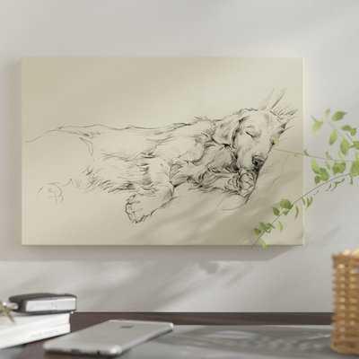 'Dog Days III' Graphic Art Print on Canvas - Wayfair