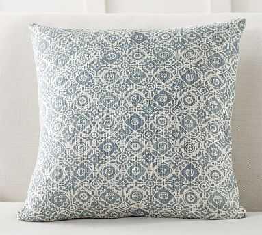 "Elinor Rev Print Pillow Cover, 20"", Blue Multi - Pottery Barn"