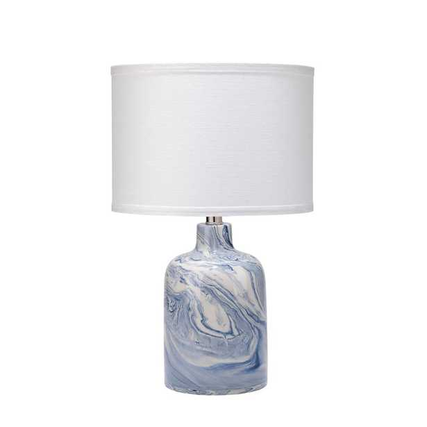 JAMIE YOUNG COMPANY 19 in. Blue and White Atmosphere Table Lamp with Shade - Home Depot