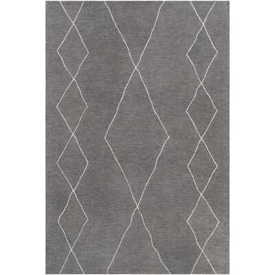 Hindman Hand-Tufted Wool Charcoal/Cream Area Rug - AllModern