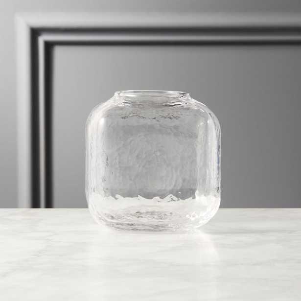 Ripley Small Glass Cube Vase - CB2