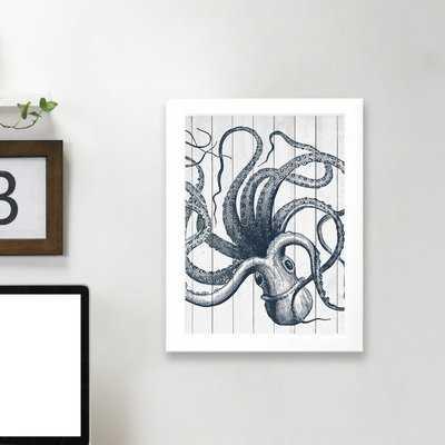 'Wood Octopus' Framed Graphic Art Print - Wayfair