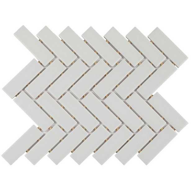 Daltile Restore Matte Stone Gray Herringbone 9 in. x 12 in. x 6.35 mm Glazed Ceramic Mosaic Tile (0.6 sq. ft./piece) - Home Depot