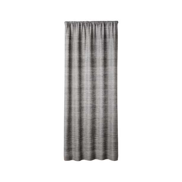 "Silvana Silk Dark Grey Curtain Panel 48""x96"" - Crate and Barrel"