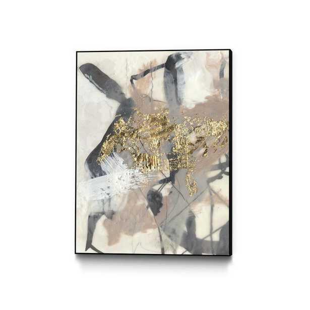 """CLICART 30 in. x 40 in. """"Golden Blush I"""" by Jennifer Goldberger Framed Wall Art, Metallics - Home Depot"""