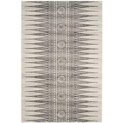 "Elson Ivory/Gray Area Rug, 6'7"" x 9' - Wayfair"