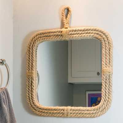 Widcombe Rope Square Mirror with Loop Hanger - Wayfair