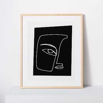 """Kate Arends Framed Print, Portrait, Black, 18""""x24"""" - West Elm"""