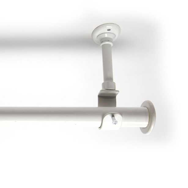 RoomDividersNow 108 in. - 168 in. Hanging Curtain Rod With Brackets in White - Home Depot