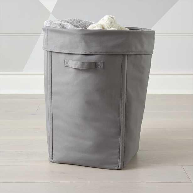 Canvas Grey Hamper - Crate and Barrel