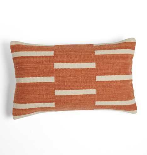 Woven Mohair Dashed Stripe Pillow Cover - Rejuvenation