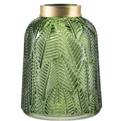 France Fern Leaf Glass Table Vase - Wayfair