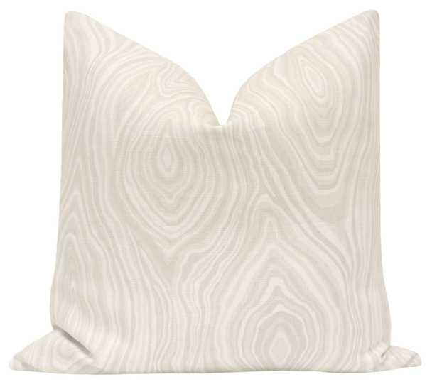 "Agate Linen Print Pillow Cover, Natural, 18"" x 18"" - Little Design Company"