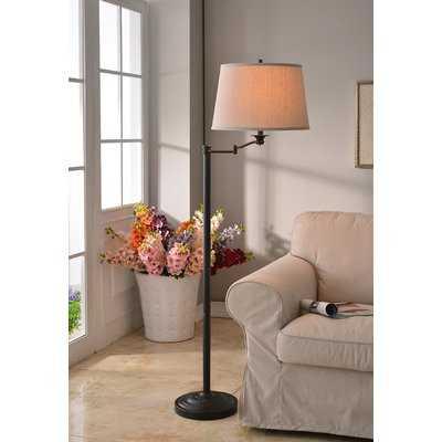 "Herndon 59"" Swing Arm Floor Lamp - Birch Lane"