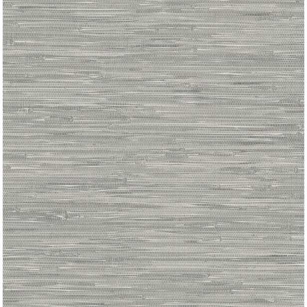 Tibetan Grasscloth Peel and Stick Wallpaper Sample, Grey - Home Depot
