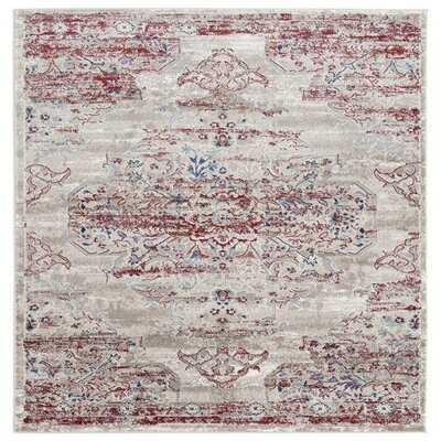 8132 Distressed Cream Burgundy  Area Rug Carpet Large New - Wayfair