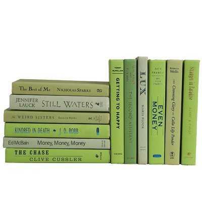 Authentic Decorative Books - By Color Modern Palm ColorPak (1 Linear Foot, 10-12 Books) - Wayfair