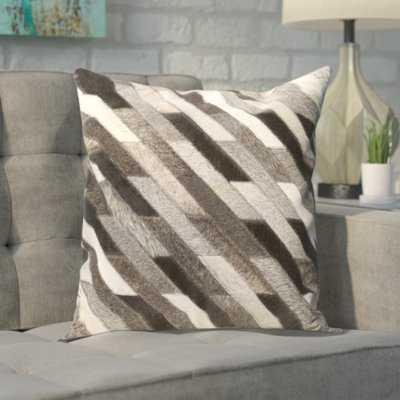 Gertrud Leather Pillow Cover - Wayfair