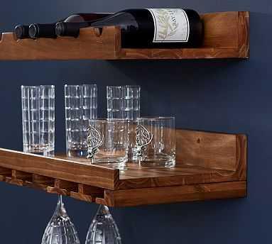 Holman Entertaining Shelf, Set of 2, One of Each, Rustic Wood - Pottery Barn